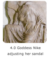 4.0 Goddess Nike adjusting her sandal