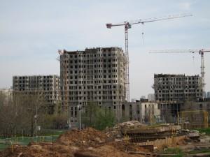 Ulitsa Koshtoyantsa/Blocks under construction/photo 2013/photographer M Glendinning