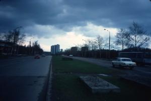 Leninsky Prospekt from southwest/photo 1983/photographer M Glendinning