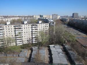 View from Ulitsa Veshnyaki 37, pod. 4/photo 2013/photographer M Glendinning