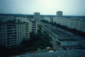 View from Ulitsa Veshnyaki 37, pod. 4/photo 1984/photographer M Glendinning