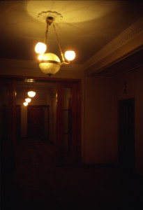 Vosstaniya Ploshchad/2nd floor interior corridor/photo 1984/photographer M Glendinning