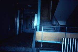 Yasyenyevo, entrance 8/ground floor lift hall/photo 1983/photographer M Glendinning