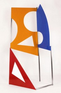 John McLean: Traffic Yellow, 2009  Steel and aluminium, h.260cm
