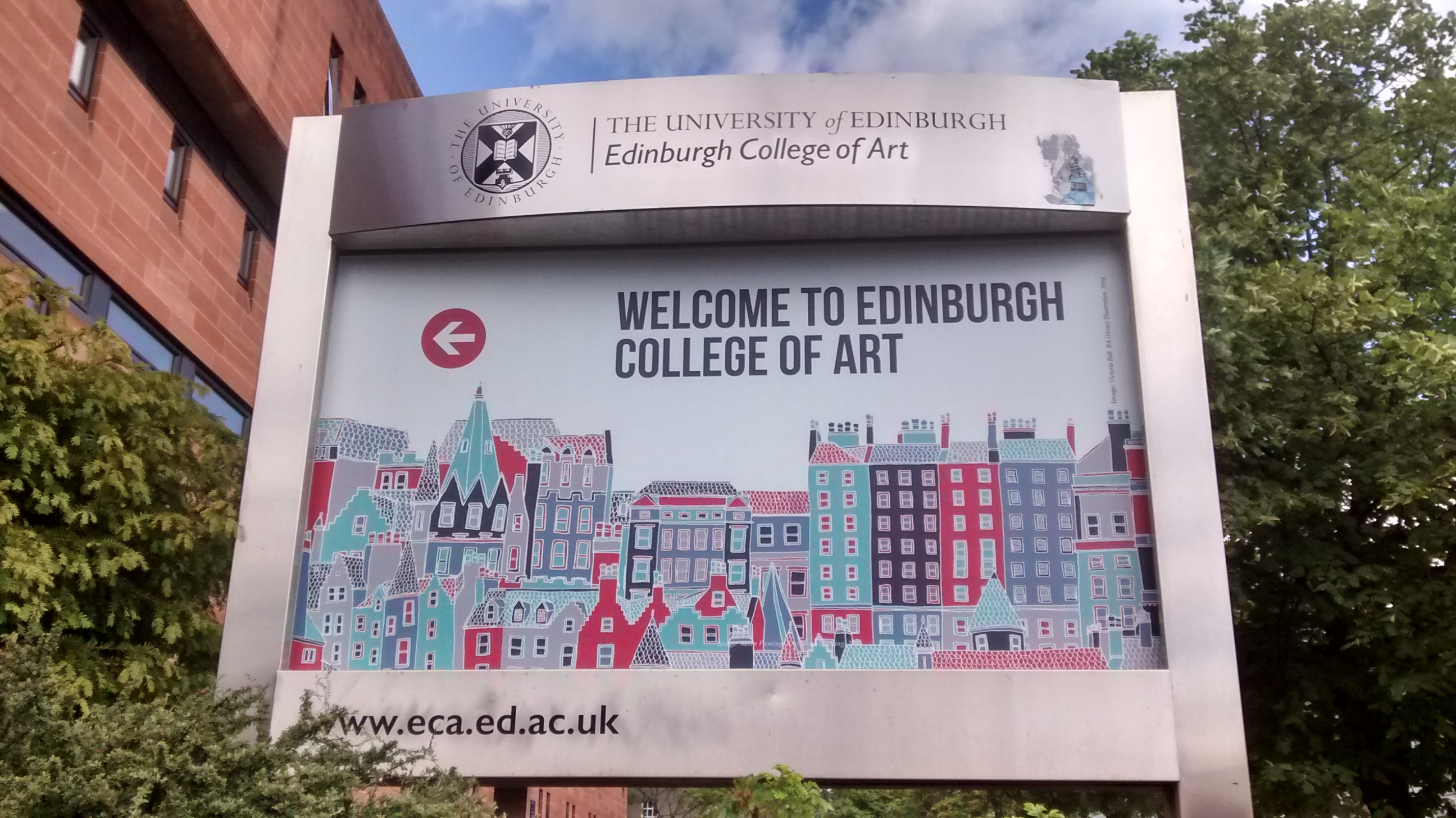 Welcome sign at ECA