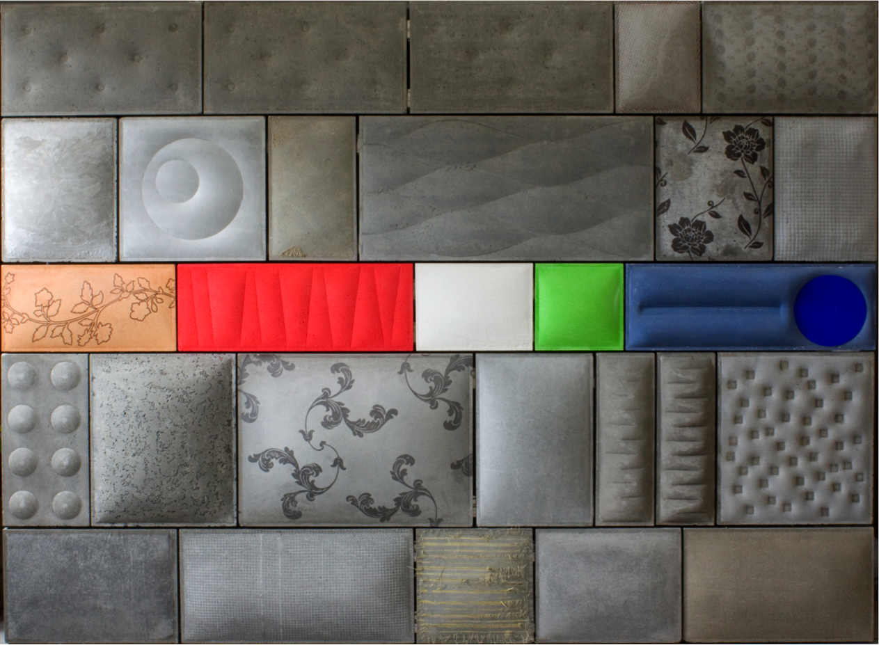 Fabric Wall Tiles : Fabric formed concrete wall