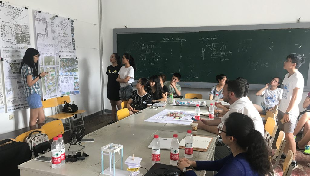Students taking part in a workshop in China