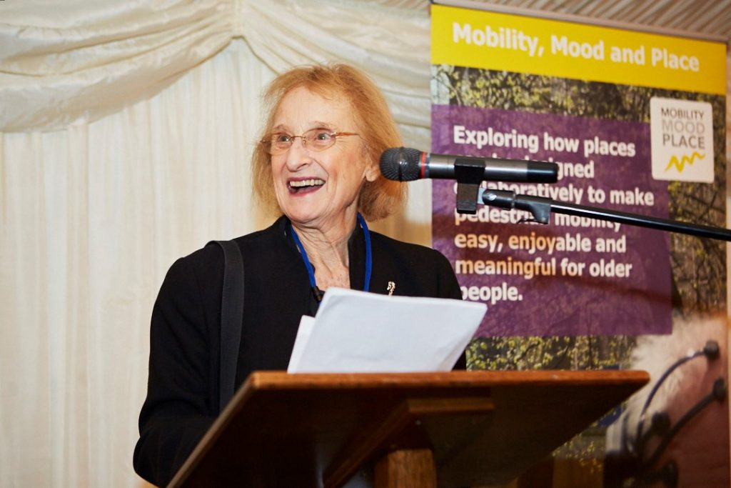 Baroness Greengross addressing guests at our evening reception at the House of Lords.