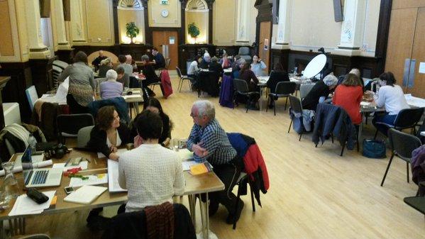 Photo of a design workshop in Orkney