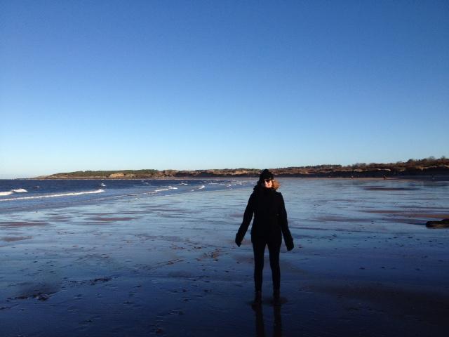 Photo of a figure on a beach