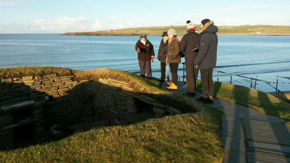 Photo of a site visit on Orkney