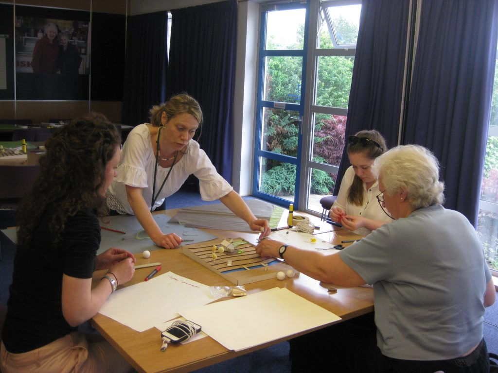 A group working on a design exercise