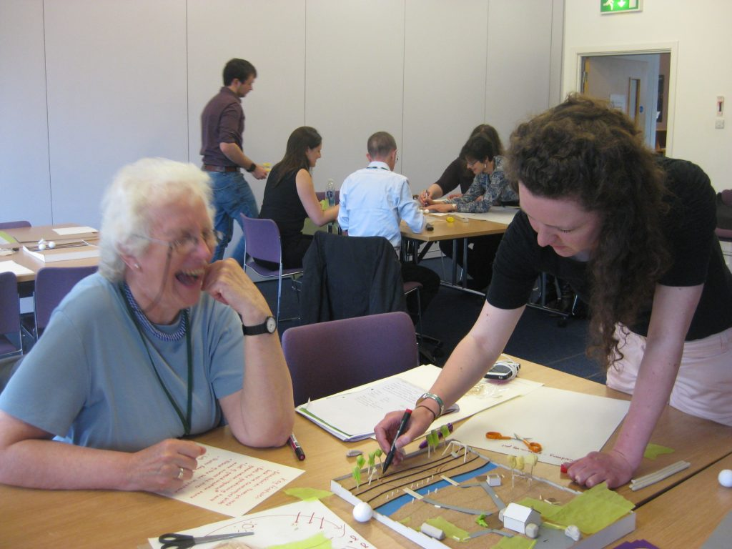 Photo of two workshop participants