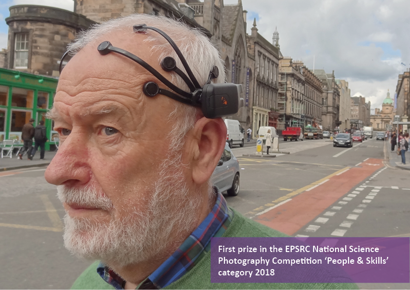 Photo of a research participant wearing a headset