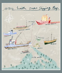 Leith Docks Shipping Map « Speculative Landscape