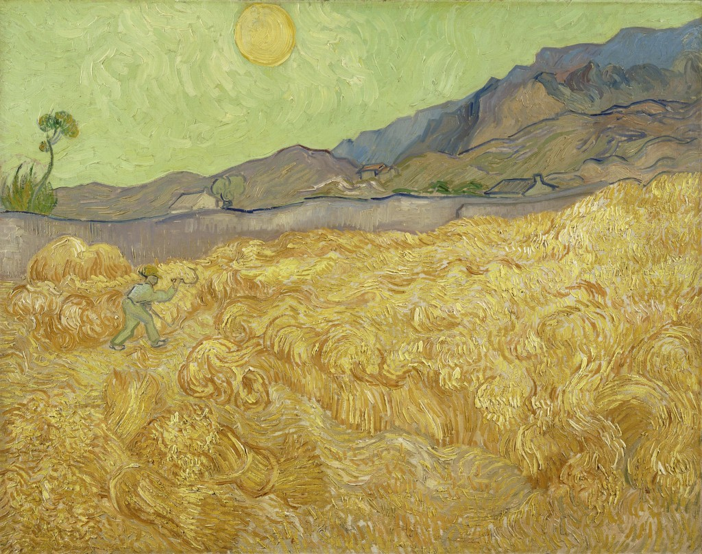 Van Gogh's Wheatfield with a Reaper